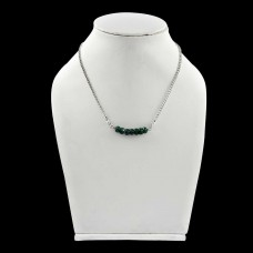 Passionate Love ! Emerald Sterling Silver Choker Necklace
