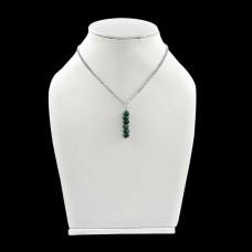 Slylish ! Emerald Sterling Silver Choker Necklace