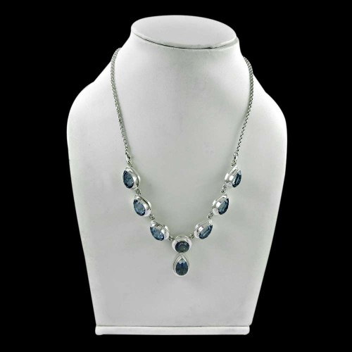Graceful 925 Sterling Silver Mystic Gemstone Necklace Jewelry