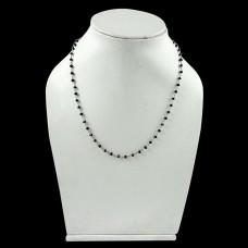 Scenic 925 Sterling Silver Black Onyx Gemstone Necklace Jewelry
