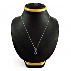 Seemly 925 Sterling Silver Amethyst Gemstone Necklace Jewelry