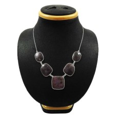 Natural MULTI SAPPHIRE Gemstone Necklace 925 Silver HANDMADE Jewelry GG5
