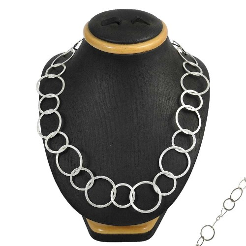 Vintage Fashion 925 Sterling Silver Necklace Jewellery