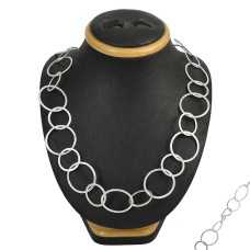 Chunky 925 Sterling Silver Necklace Jewellery
