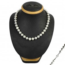 Handmade Sterling Silver Beads Necklace Jewellery
