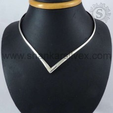 Solid 925 Sterling Silver Necklace Jewellery Wholesaler India