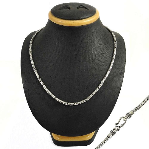 Scrumptious 925 Sterling Silver Necklace Snake Chain Jewellery