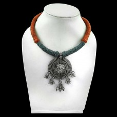 Classy!! 925 Sterling Silver Boho Thread Necklace Jewellery