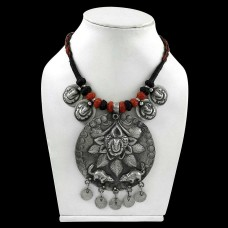 Ethynic Design Bohemian 925 Sterling Silver Thread Necklace