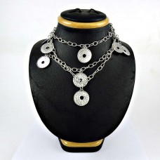 Designer 925 Sterling Silver Necklace Traditional Jewelry