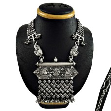 Antique Look Oxidized 925 Sterling Silver Necklace