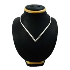 Indian HANDMADE Jewelry 925 Solid Sterling Silver Necklace E10
