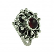 Trendy Garnet Gemstone 925 Sterling Silver Gemstone Nose Pin Jewellery