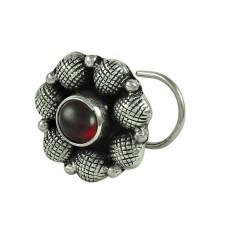 Pretty Garnet Gemstone 925 Sterling Silver Gemstone Nose Pin Jewellery