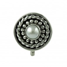 Classic Pearl 925 Sterling Silver Nose Pin Jewellery