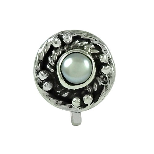 Pretty Pearl 925 Sterling Silver Nose Pin Jewellery