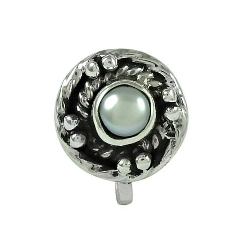 Pretty Pearl 925 Sterling Silver Nose Pin Jewellery
