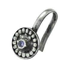925 sterling silver gemstone jewelry Beautiful Amethyst Nose Pin Manufacturer India
