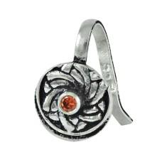 925 sterling silver fashion jewelry Charming Garnet Gemstone Nose Pin