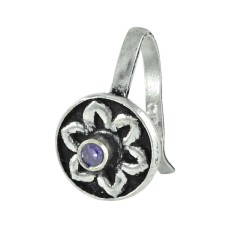 925 sterling silver jewelry Beautiful Amethyst Gemstone Nose Pin