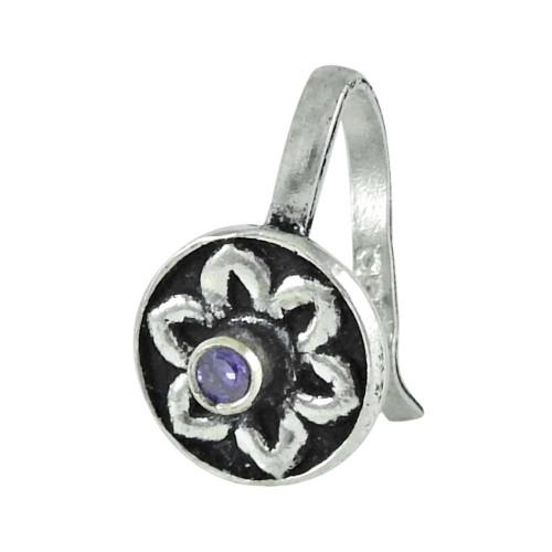 925 sterling silver jewelry Beautiful Amethyst Gemstone Nose Pin