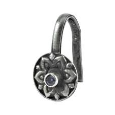 925 gemstone silver jewelry Fashion Amethyst Nose Pin