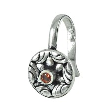 925 sterling silver jewelry Trendy Garnet Nose Pin Großhändler