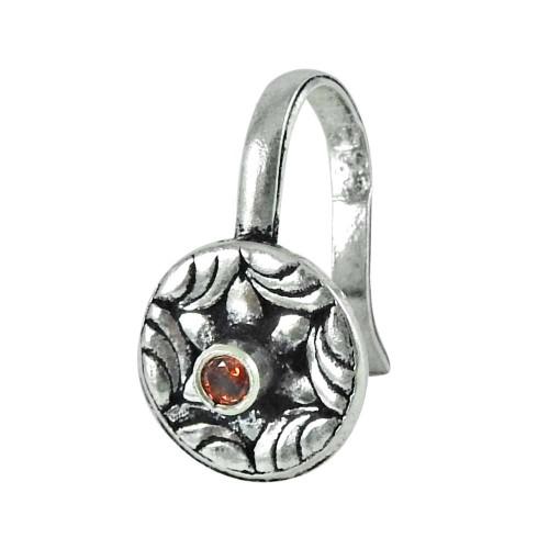 925 sterling silver jewelry Trendy Garnet Nose Pin Großhändler