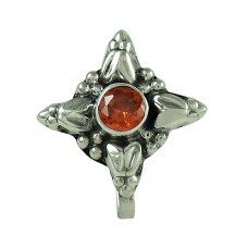 Scrumptious Red CZ Gemstone 925 Sterling Silver Nose Pin Jewellery