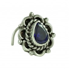 Seemly Iolite Gemstone 925 Sterling Silver Nose Pin Jewellery