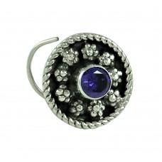 Good-Looking Iolite Gemstone 925 Sterling Silver Handmade Nose Pin Jewellery