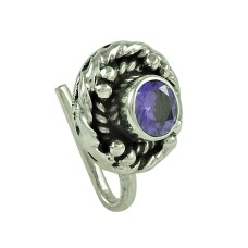 Beautiful Iolite Gemstone 925 Sterling Silver Nose Pin Jewellery