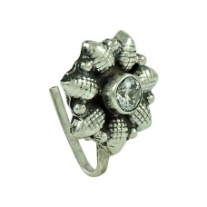 Charming CZ Gemstone 925 Sterling Silver Vintage Nose Pin Jewellery