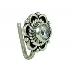 Rattling CZ Gemstone 925 Sterling Silver Nose Pin Jewellery