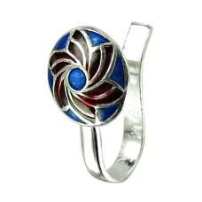 Stylish Inlay Nose Pin Handmade 925 Sterling Silver Indian Jewellery