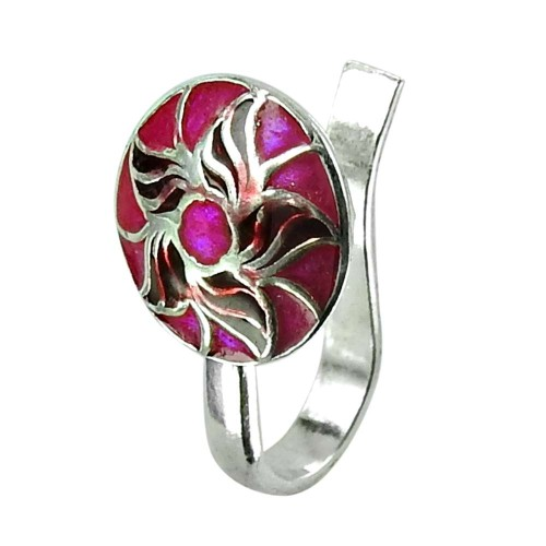 Handmade Sterling Silver Inlay Nose Pin 925 Silver Antique Jewellery