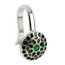 Sightly Sterling Silver Inlay Nose Pin Indian Sterling Silver Handmade Jewellery
