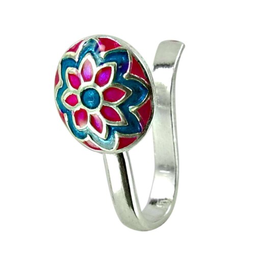 Stunning Sterling Silver Inlay Nose Pin Wholesaler 925 Silver Jewellery