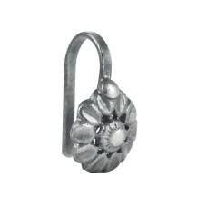Soigne 925 Sterling Silver Handmade Flower Design Nose Pin Jewelry