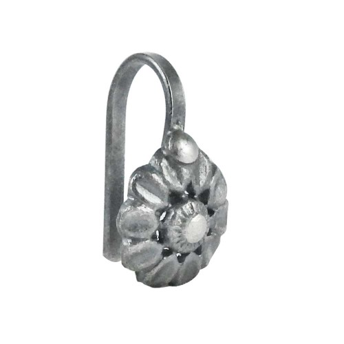 Soigne 925 Sterling Silver Handmade Flower Design Nose Pin Jewelry
