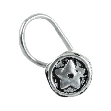 925 sterling silver Oxidised jewelry High Polish sterling silver Nose Pin Exporter