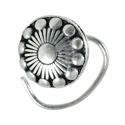 925 sterling silver Oxidised jewelry Ethnic sterling silver Nose Pin