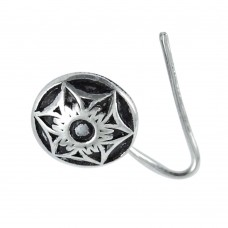 Sterling silver Oxidised jewelry High Polish sterling silver Nose Pin