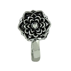 Rattling Oxidized 925 Sterling Silver Nose Pin Handmade Jewellery