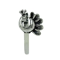Peacock Design 925 Sterling Silver Nose Pin Vintage Jewellery