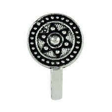 Daily Wear Oxidized 925 Sterling Silver Nose Pin Handmade Jewellery