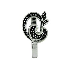 Trendy Oxidized 925 Sterling Silver Nose Pin Indian Jewellery