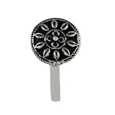 Charming Oxidized 925 Sterling Silver Nose Pin Vintage Style Jewellery