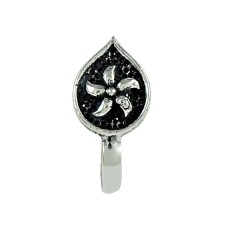 Fashion Oxidized 925 Sterling Silver Nose Pin Antique Indian Jewellery