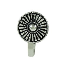 Pretty Oxidized 925 Sterling Silver Nose Pin Indian Jewellery